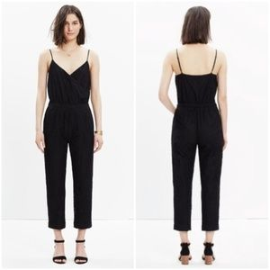 Madewell lace faux-wrap jumpsuit, new condition